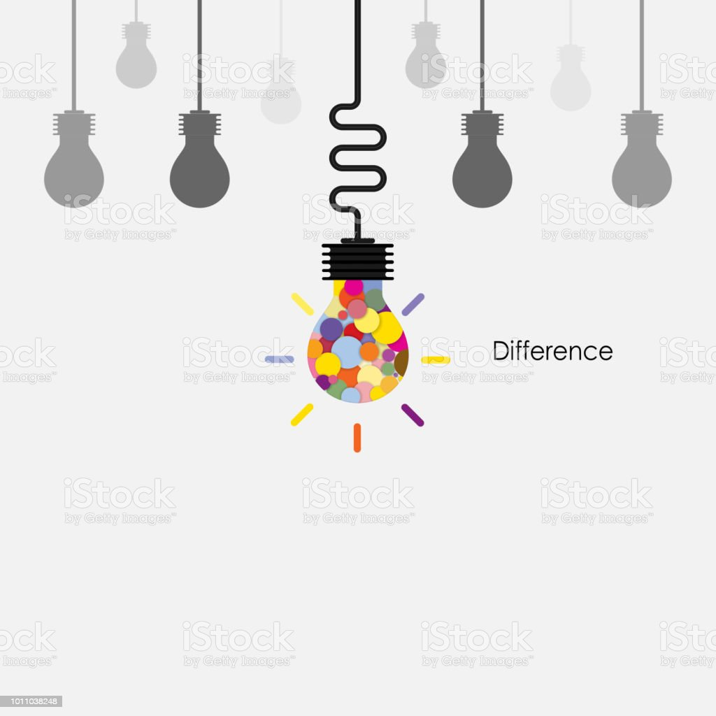 Creative Light Bulbs Vector Logo Design Template And Difference Conceptbusinesseducation And Industrial Idea Vector Illustration Stock Illustration Download Image Now Istock