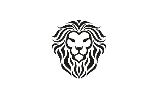Creative Lion Black Head Logo