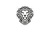 istock Creative Lion Black Head Logo 1219382113