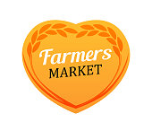 Creative Logo for Farmers Market. Rye Wheat demonstrates the naturalness of the product this market.