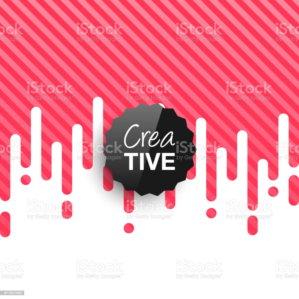 Creative logo template on abstract red background vector art illustration