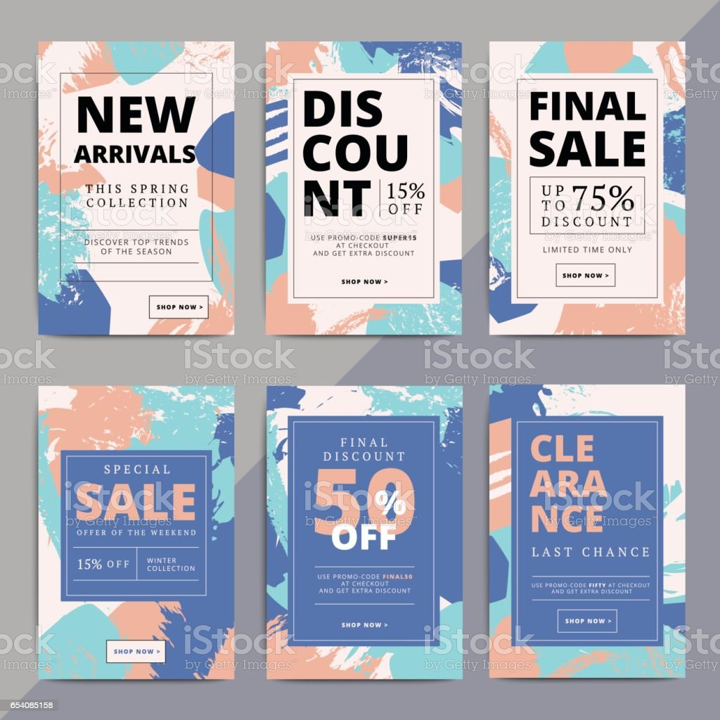 Creative luxury abstract social media web banners for cell phone vector art illustration