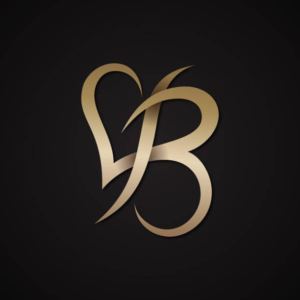 Creative luxury letter B shaped love design vector symbol Creative luxury letter B shaped love design vector symbol. Luxury letter for your business company. Vector illustration EPS.8 EPS.10 alphabet clipart stock illustrations