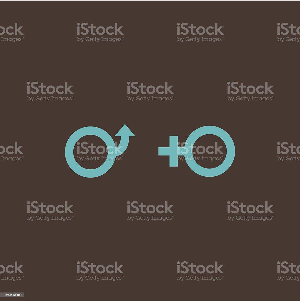 Creative male and female gender symbols vector art illustration