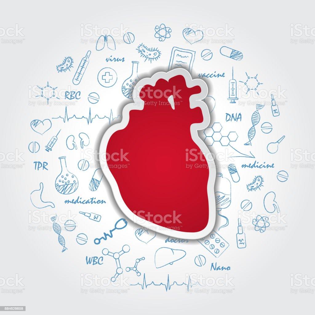 Kreative Medizinische Versorgung Hintergrund Mit Der Anatomie Des ...
