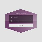 creative member sign in form UI design