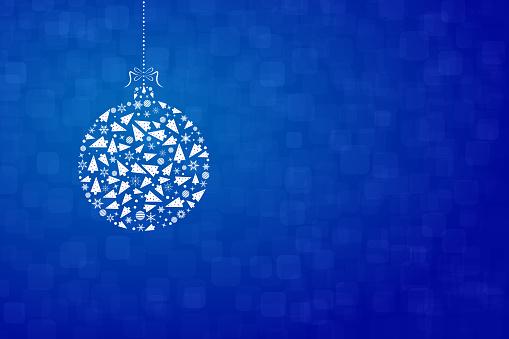 Un adorno de Navidad feliz creativa diseño - ilustración de vectores
