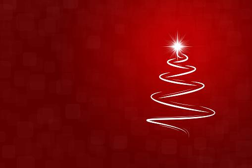 A creative merry christmas tree design - vector Illustration