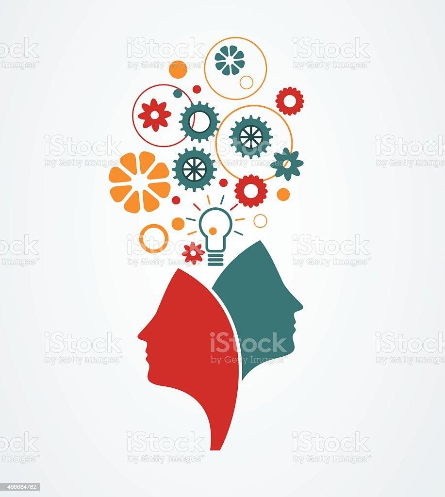 Creative mind vector art illustration