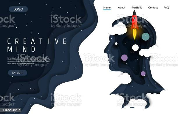 Creative mind vector website landing page design template vector id1165508215?b=1&k=6&m=1165508215&s=612x612&h=eijrhel4ddllgf73ox kls8jfjdqrk 8jnnfu0giza8=