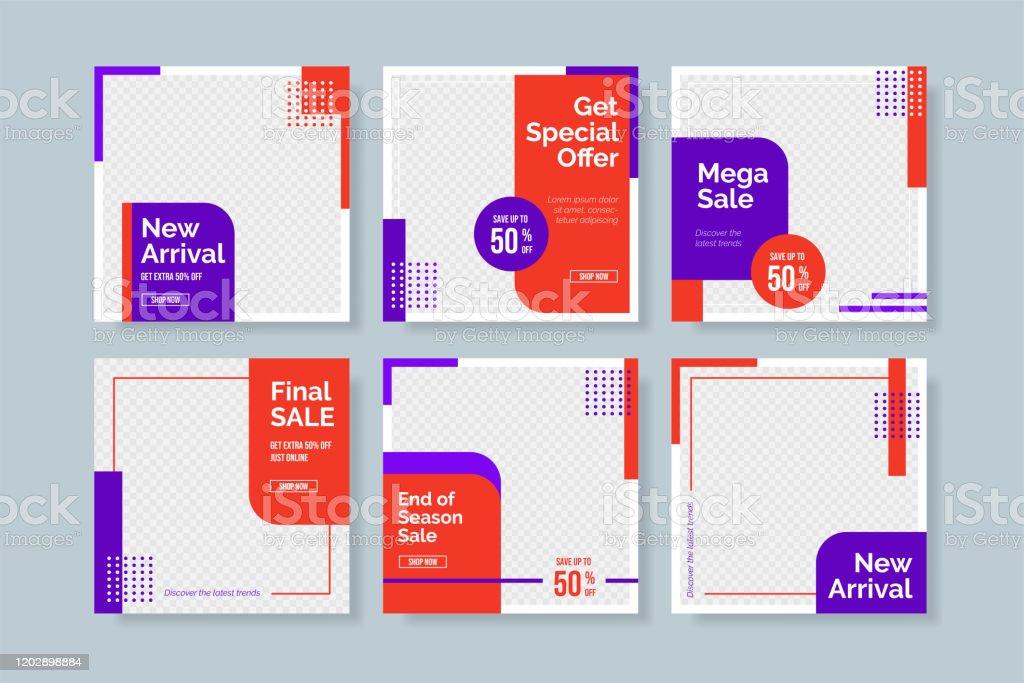 kreative minimalistische Social-Media-Post-Vorlage. Einfache Banner-Verkaufsvorlage - Lizenzfrei Ausverkauf Vektorgrafik