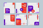 creative minimalist social media post template. Simple banner sale template