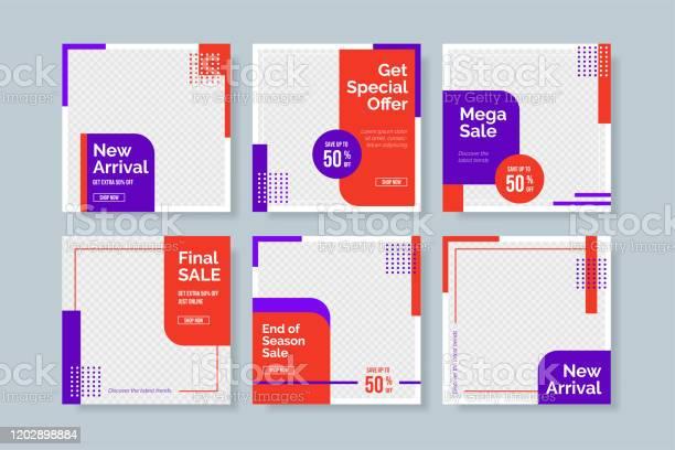 Kreative Minimalistische Socialmediapostvorlage Einfache Bannerverkaufsvorlage Stock Vektor Art und mehr Bilder von Ausverkauf