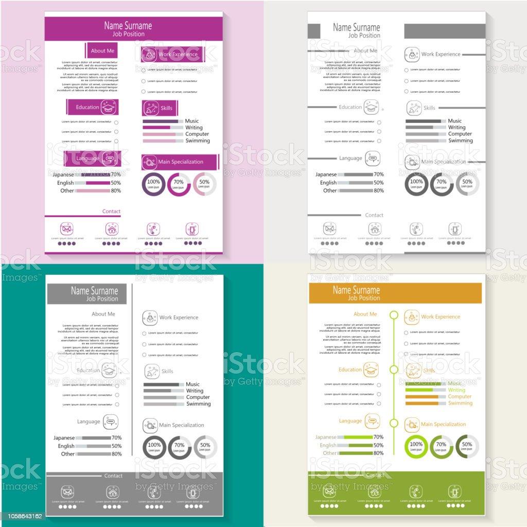 Kreative Moderne Lebenslauf Lebenslauf Mit Infografik Vorlage Vektor