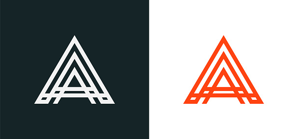 Creative Modern letter A, triangle. Vector icon template