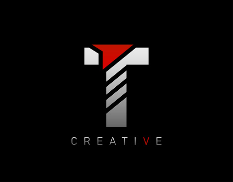 Creative Modern Letter T logo, Abstract T Letter Logo Icon.