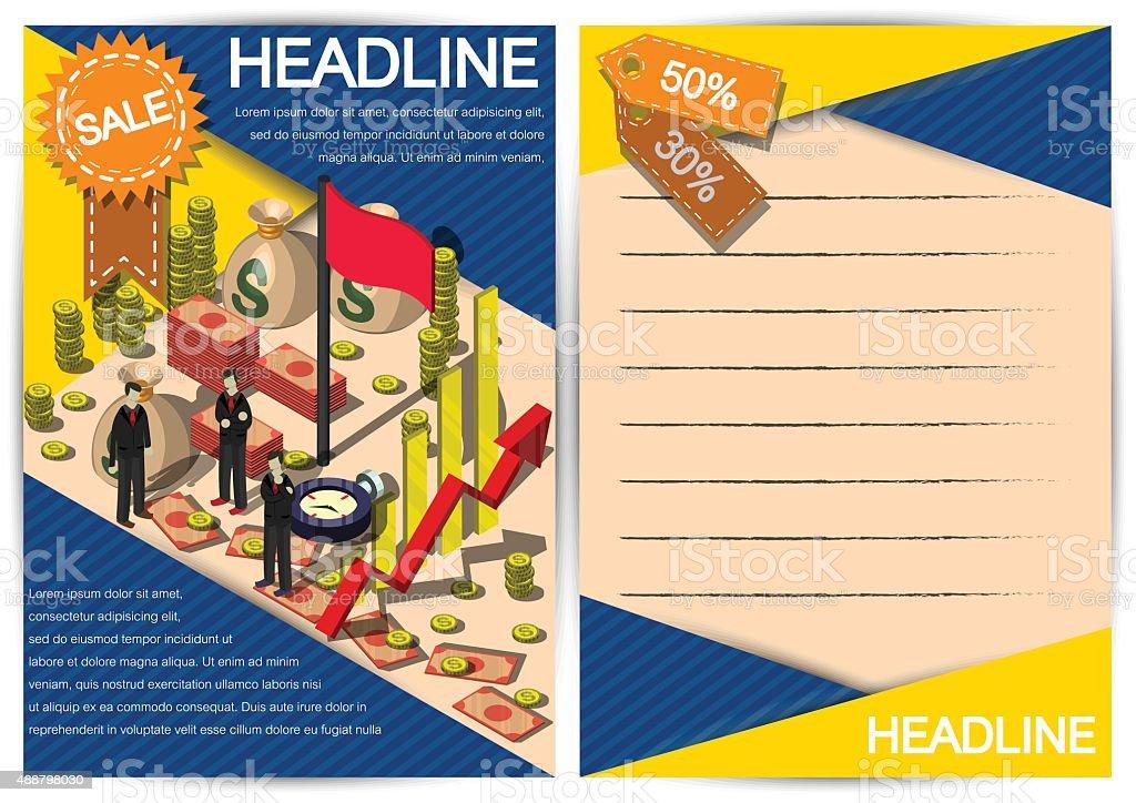 Kreative Geld Vorlage Flyer Broschüre Vektorpapierdesignvorlage ...