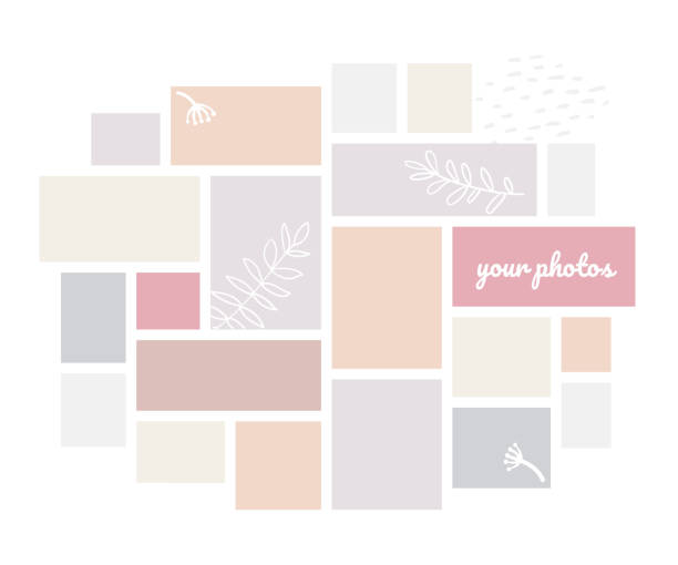 Creative mood board - colorful vector background template vector art illustration