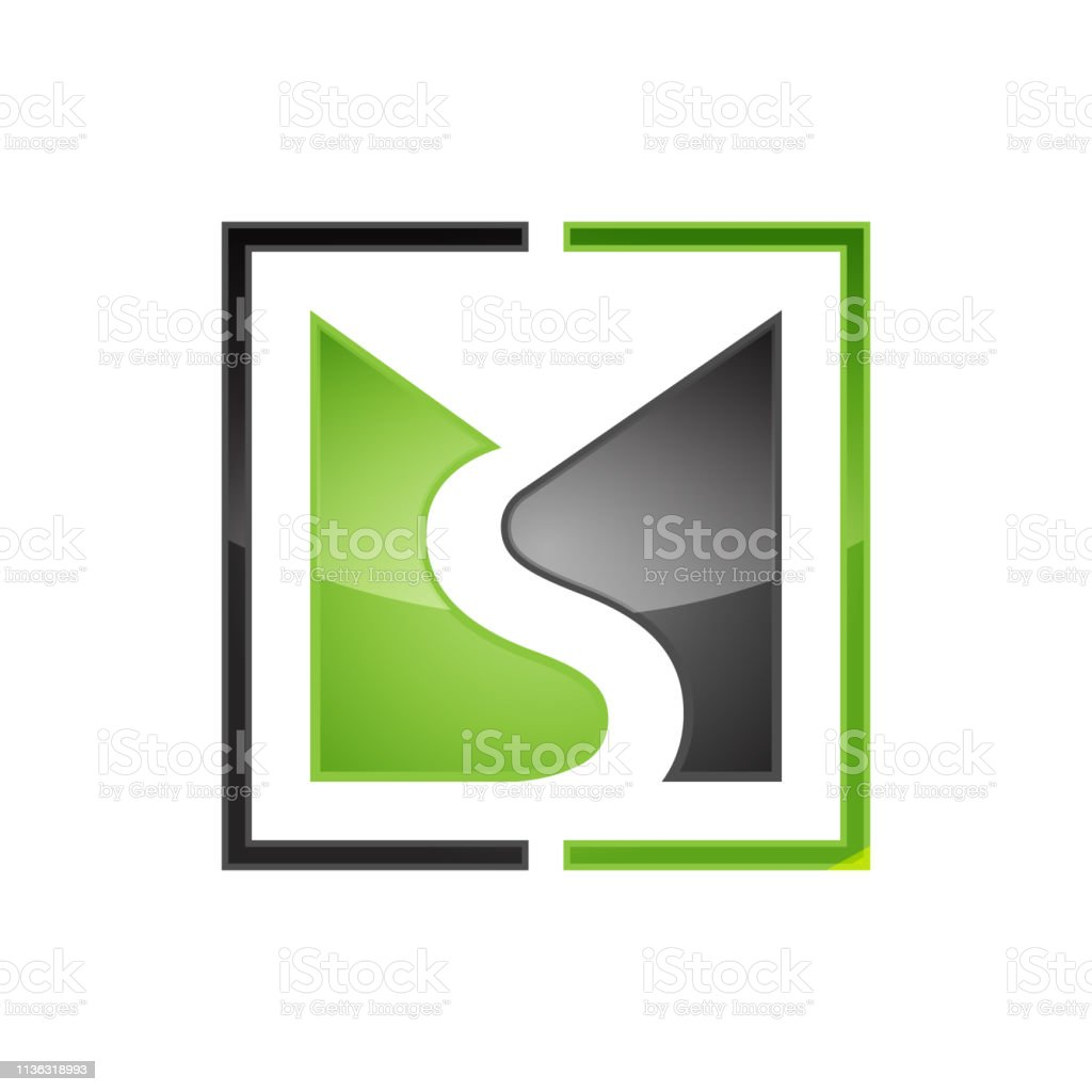 Creative ms letter vector logo Creative ms letter vector logo design with negative style. Abstract stock vector
