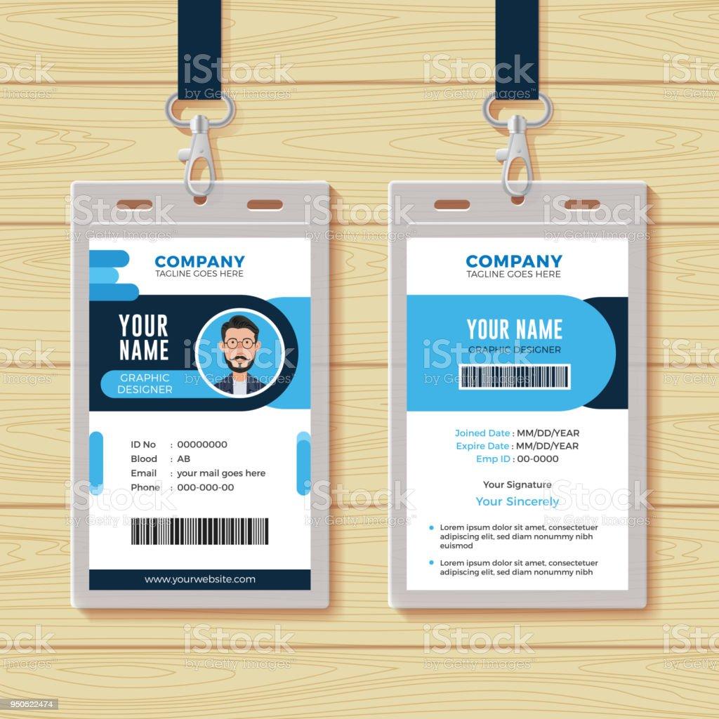 Creative Multipurpose Id Card Template Stock Vector Art & More ...