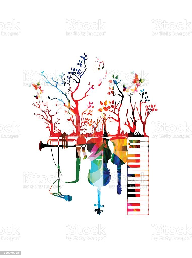 Creative music concept vector illustration vector art illustration