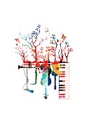 Creative music concept vector illustration