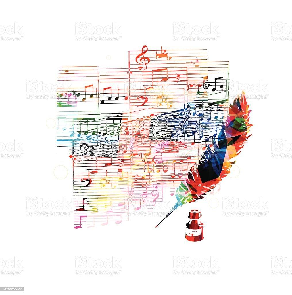 Creative musical design vector art illustration