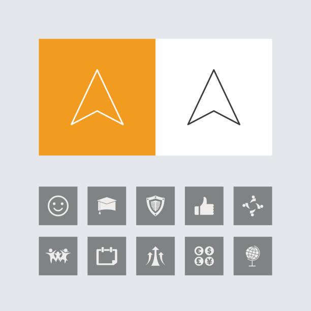 bonus simgeleri ile yaratıcı navigasyon ok hattı simgeleri. - start stock illustrations