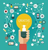 Creative network infographics