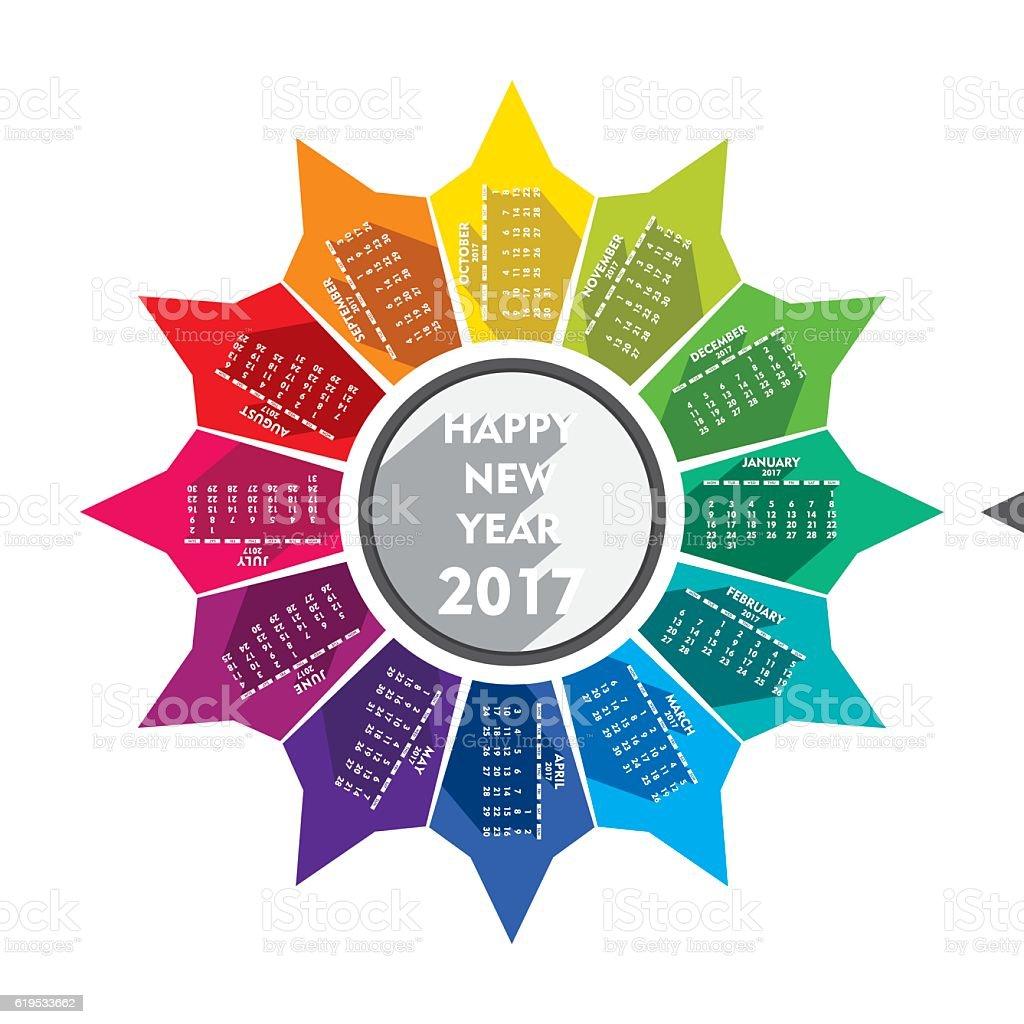 Calendar Design For New Year : Creative new year calendar design stock vector art