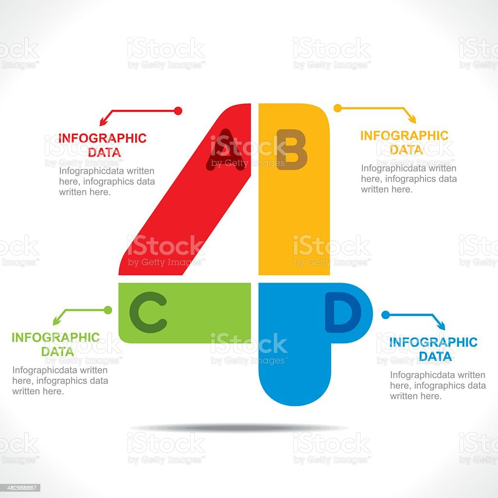 creative number info-graphics vector art illustration