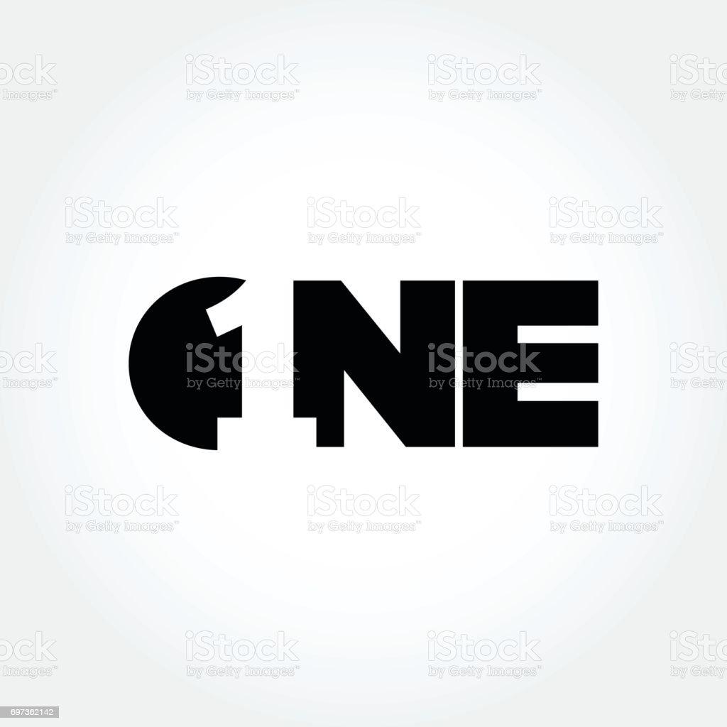 Creative number one design symbol