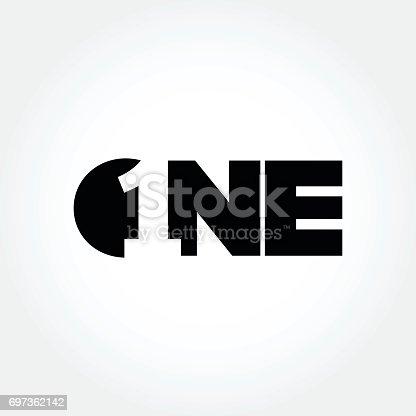 istock Creative number one design symbol 697362142