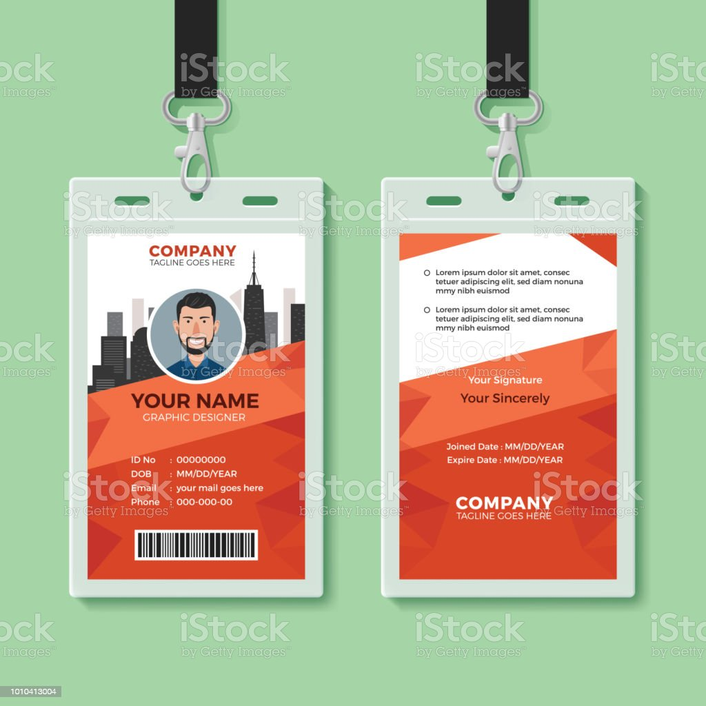 Creative Office Identity Card Template Stock Vector Art More - Office card template