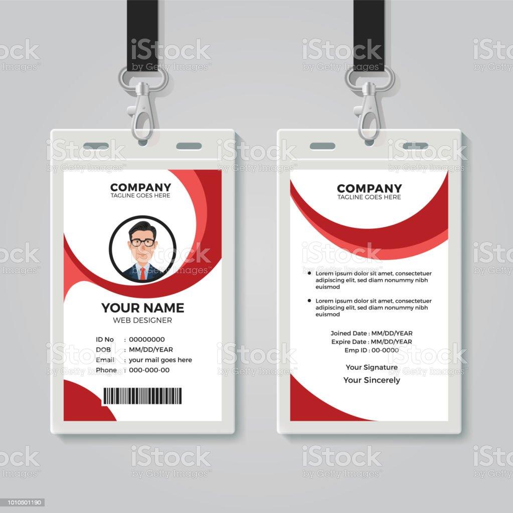 Ilustración de Oficina Creativa Plantilla De Tarjeta De Identidad y ...