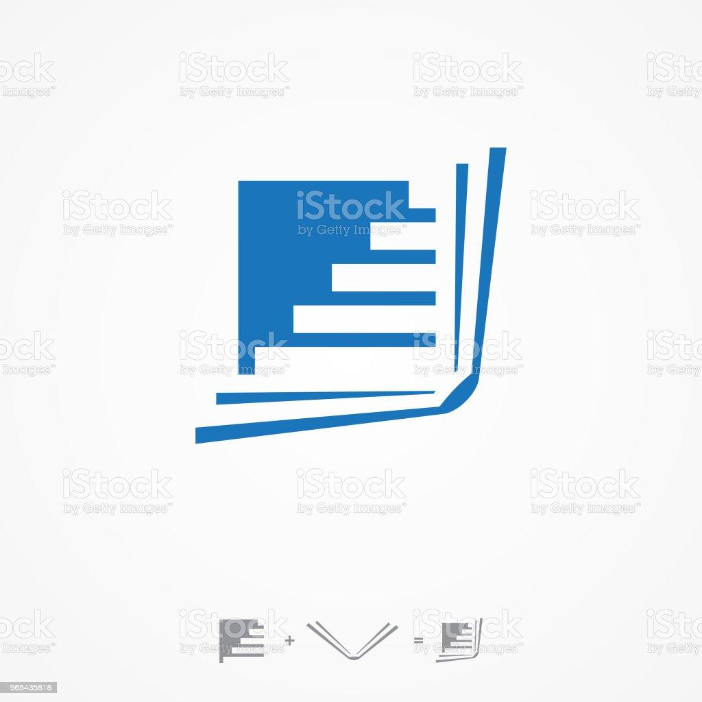 흰색 배경에 계단 크리에이 티브 오픈 책 로고 벡터 - 로열티 프리 0명 벡터 아트