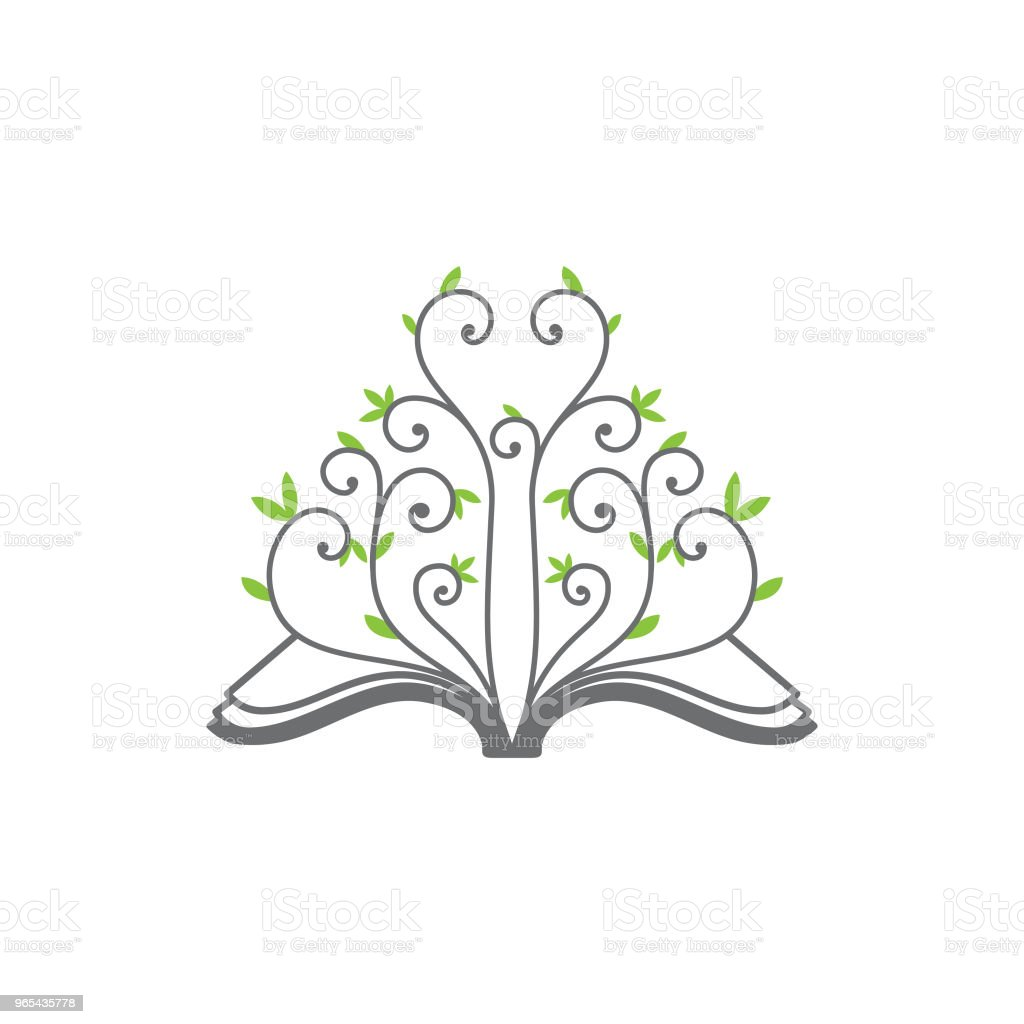 Creative open book vector with ornament floral on the white color background royalty-free creative open book vector with ornament floral on the white color background stock vector art & more images of backgrounds