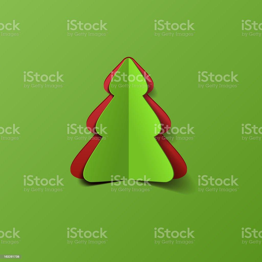 Creative paper Christmas tree royalty-free stock vector art