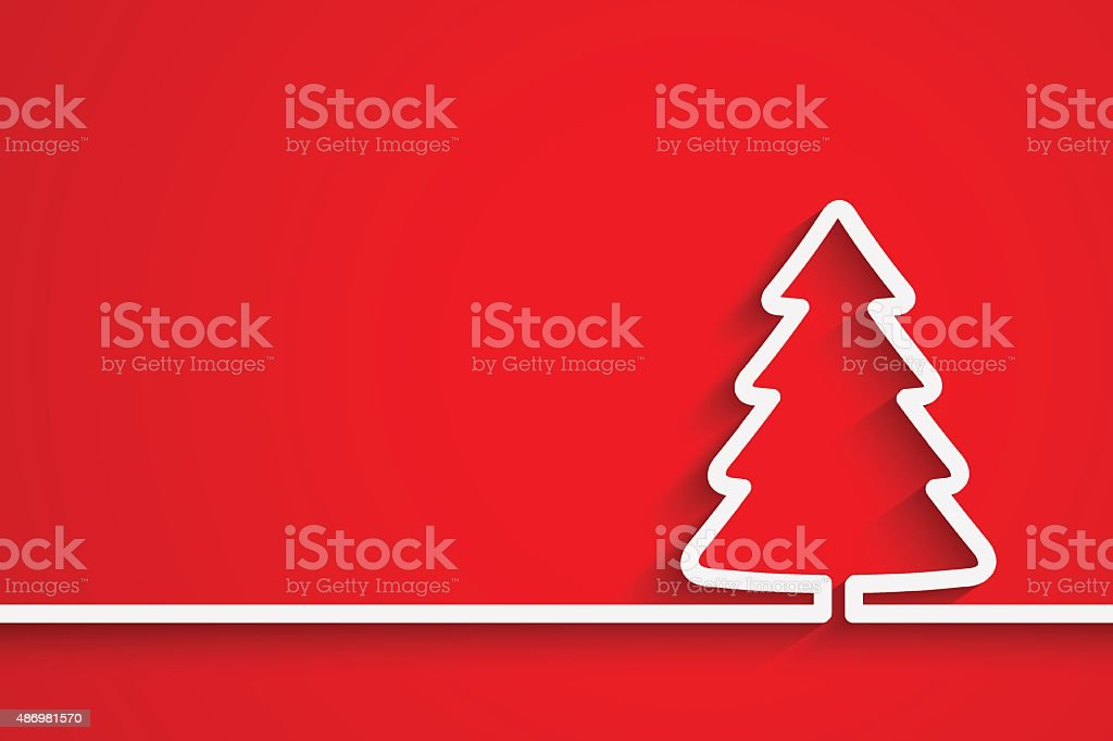 Creative paper Christmas tree vector art illustration