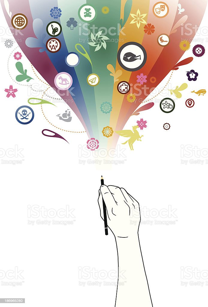 Creative Pencil royalty-free stock vector art