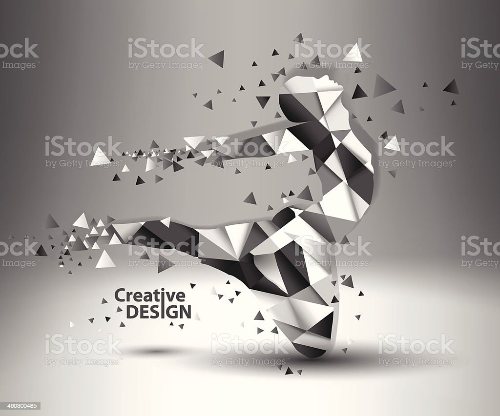 Creative people shapes created by triangles royalty-free stock vector art