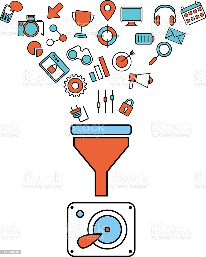 royalty free data filter clip art vector images illustrations rh istockphoto com data clip art free data clip art images