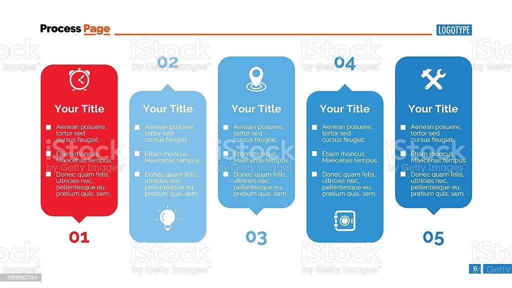 creative process chart slide template アイデアのベクターアート素材
