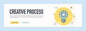 Creative Process Concept - Flat Line Web Banner