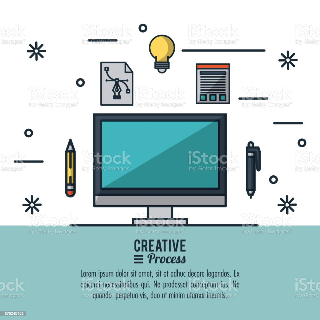 Creative Process Infographic Stock Illustration - Download ...
