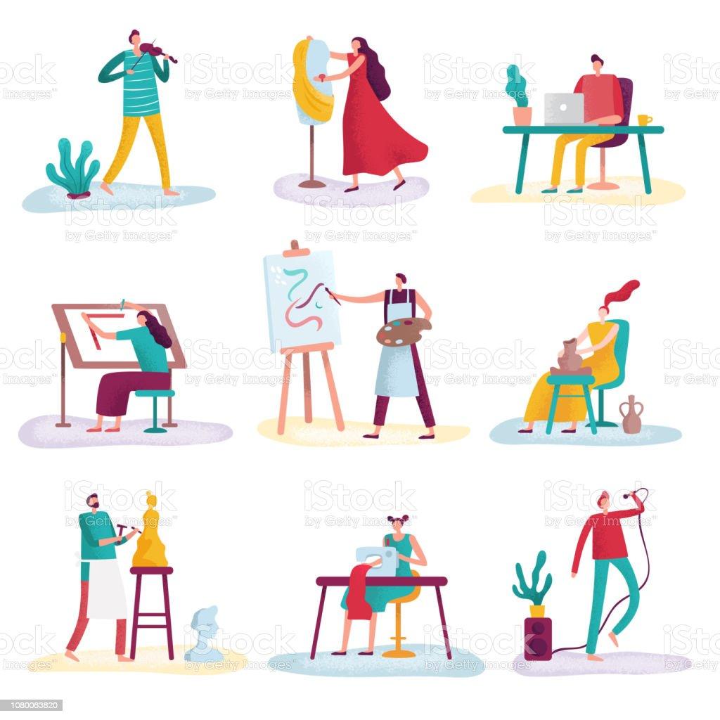 Arbeiter Malerin Stock Vektor Art und mehr Bilder von Anwerbung - iStock