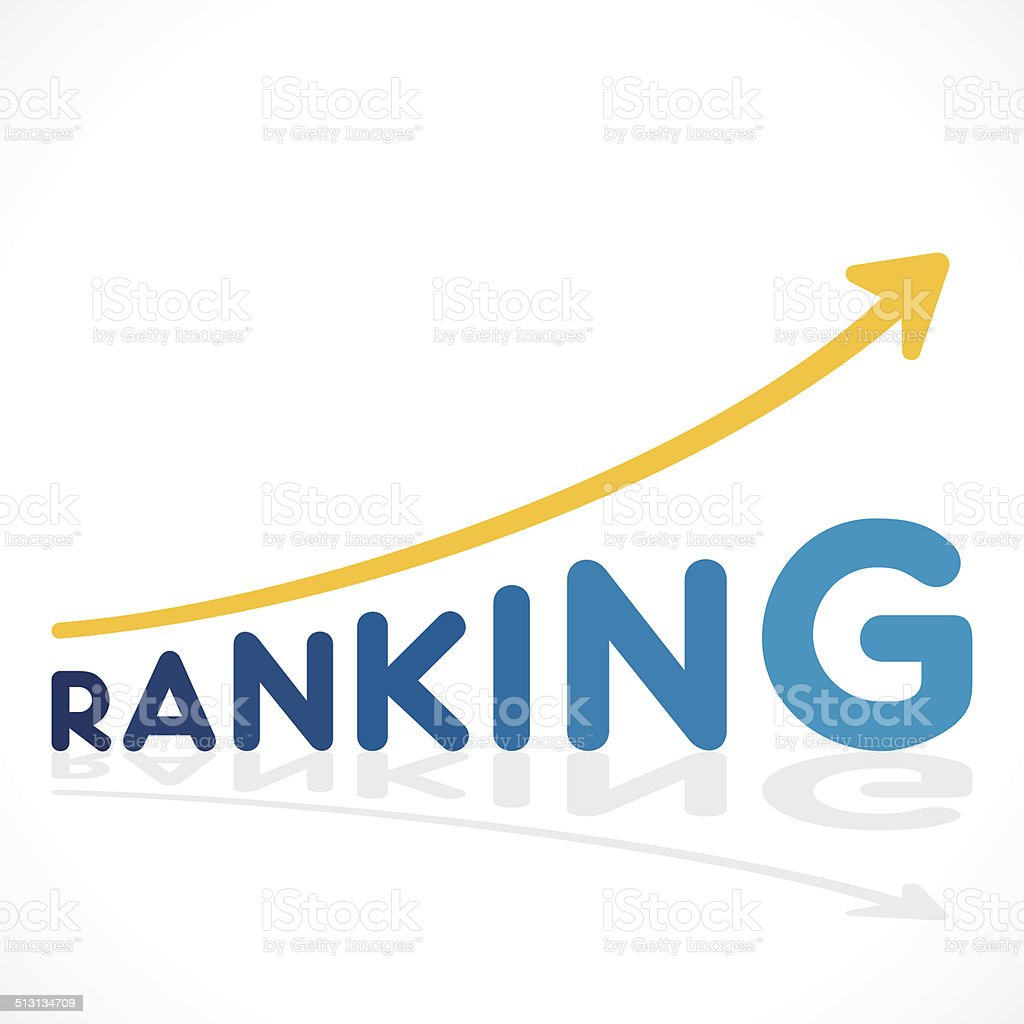 creative ranking increase graph design vector art illustration
