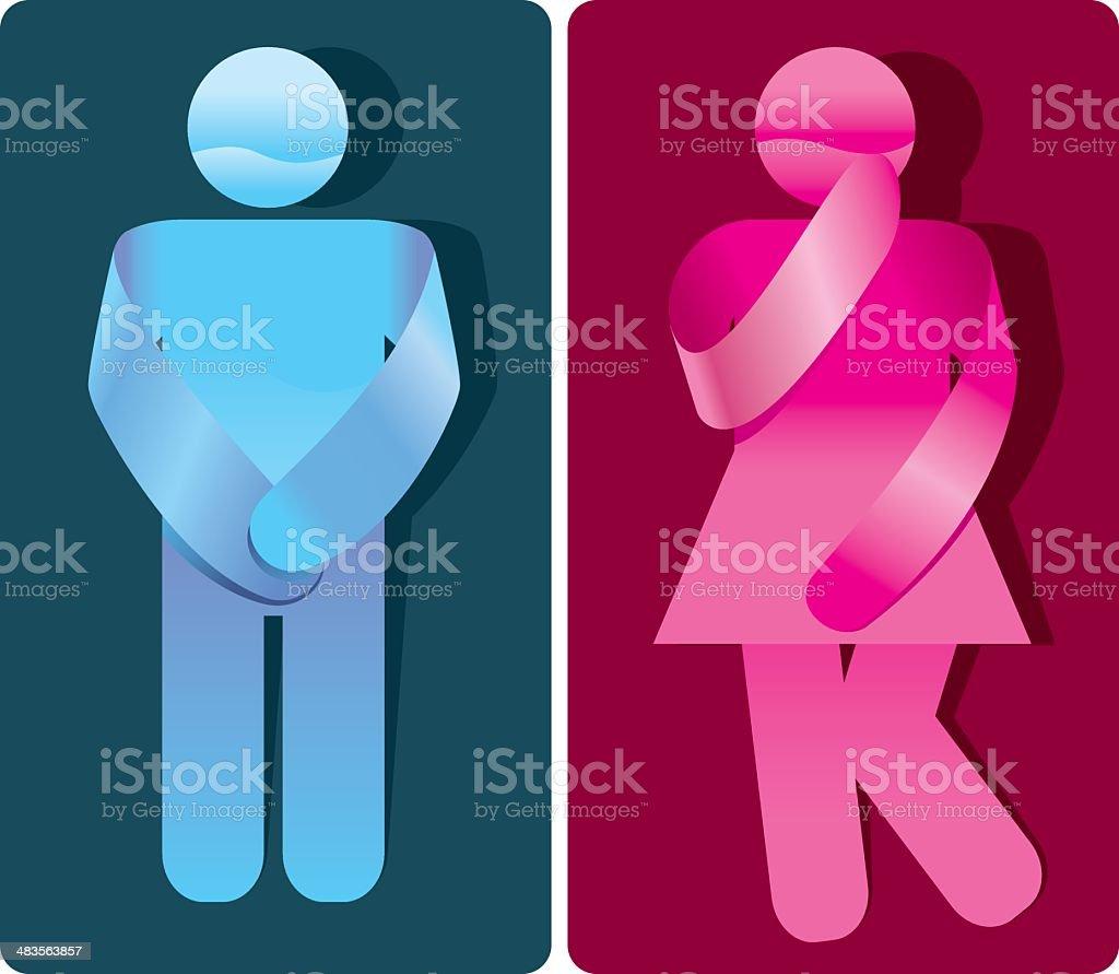 Kreative Toilette Zeichen – Vektorgrafik