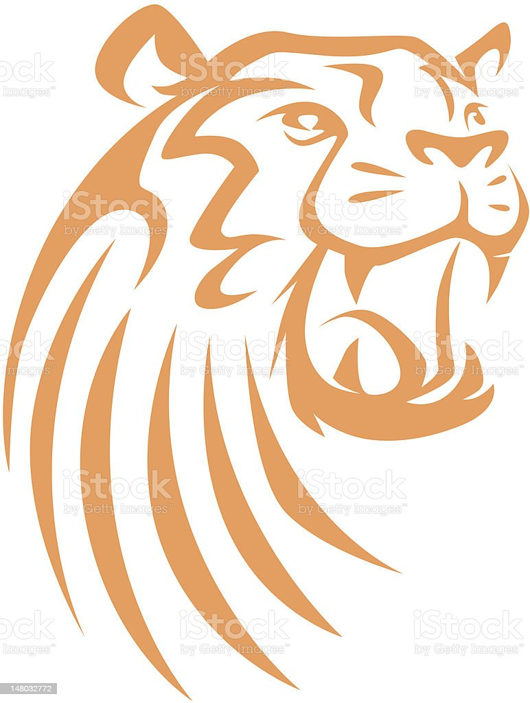 Creative Roaring Tiger Illustration
