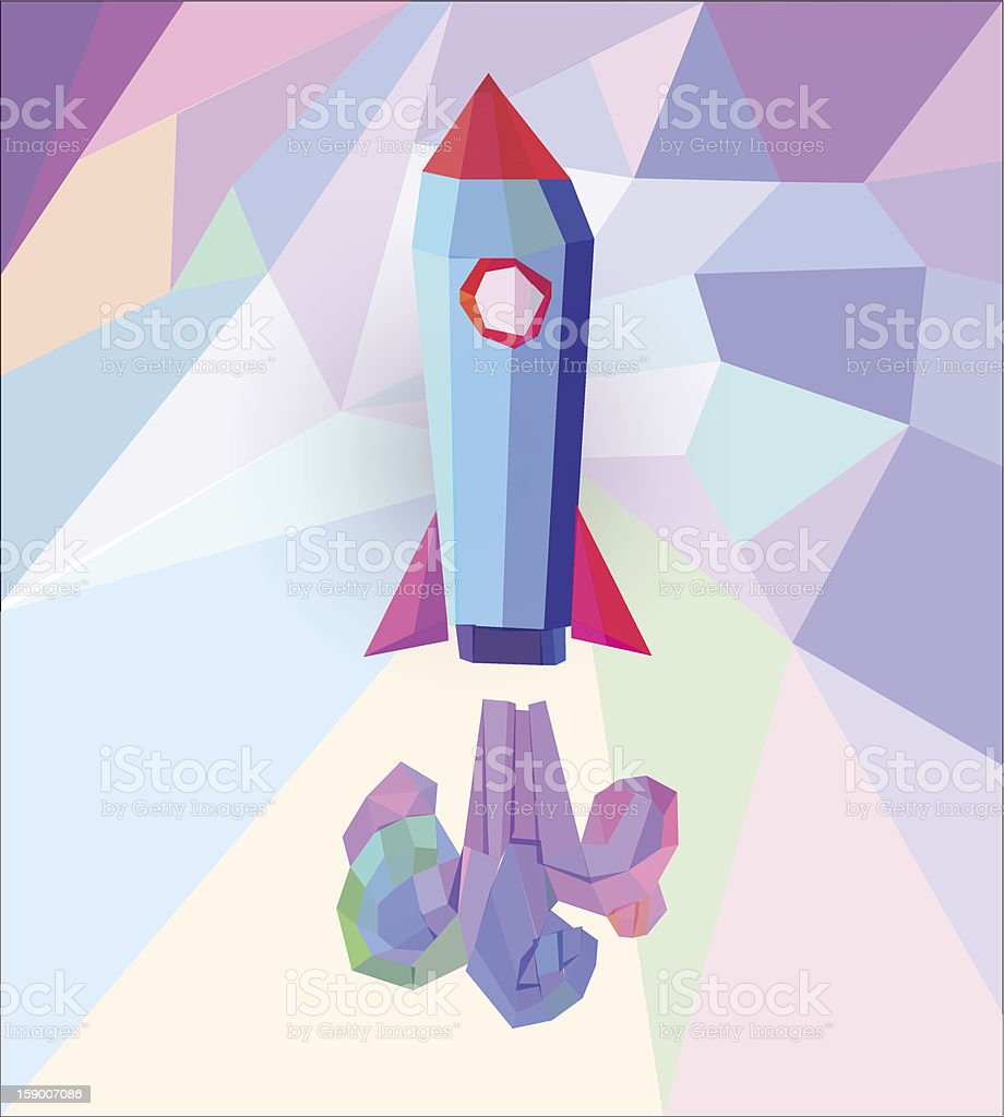 Creative Rocket royalty-free stock vector art